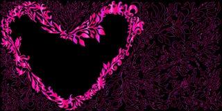 Floral καρδιά αγάπης, που απομονώνεται ρομαντική Απεικόνιση αποθεμάτων