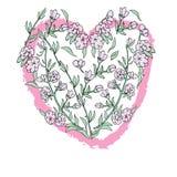 Floral καρδιά τέχνης Στοκ φωτογραφία με δικαίωμα ελεύθερης χρήσης