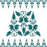 Floral καλλιγραφικό σχέδιο διακοσμήσεων Στοκ φωτογραφία με δικαίωμα ελεύθερης χρήσης