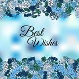 Floral καλύτερες ευχές υποβάθρου doodle Στοκ Εικόνες