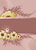 floral κείμενο πλαισίων Στοκ φωτογραφία με δικαίωμα ελεύθερης χρήσης