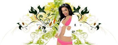 floral κορίτσι ελεύθερη απεικόνιση δικαιώματος