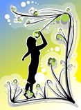 floral κορίτσι Στοκ εικόνες με δικαίωμα ελεύθερης χρήσης