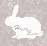 floral κουνέλι προτύπων Πάσχας καρτών ελεύθερη απεικόνιση δικαιώματος