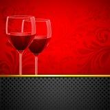 floral κρασί γυαλιού ανασκόπη&sigm διανυσματική απεικόνιση