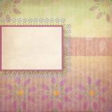 floral κρητιδογραφία πλαισίων Στοκ εικόνα με δικαίωμα ελεύθερης χρήσης