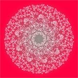 Floral κυκλικό σχέδιο Στοκ Εικόνες