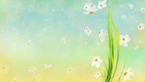 Floral κυματισμός φύλλων ελεύθερη απεικόνιση δικαιώματος