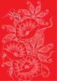 floral κόκκινο ανασκόπησης Στοκ Φωτογραφίες