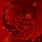 floral κόκκινο διάνυσμα Στοκ φωτογραφία με δικαίωμα ελεύθερης χρήσης