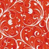 floral κόκκινο προτύπων Στοκ φωτογραφίες με δικαίωμα ελεύθερης χρήσης