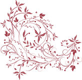 floral κόκκινο προτύπων Στοκ Φωτογραφία