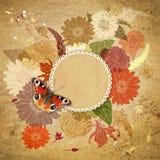 Floral λουλούδια watercolor ανασκόπησης Στοκ Εικόνα