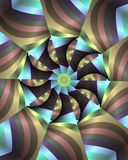 floral λωρίδες κρητιδογραφιώ&n Ελεύθερη απεικόνιση δικαιώματος