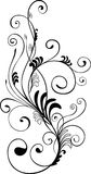 floral μονοχρωματική διακόσμη&sigm Στοκ φωτογραφίες με δικαίωμα ελεύθερης χρήσης