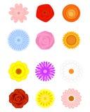 Floral μορφές καθορισμένες Ελεύθερη απεικόνιση δικαιώματος