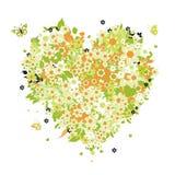 floral μορφή καρδιών