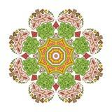Floral μοτίβα δαντελλών mandala Στοκ Εικόνα