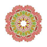 Floral μοτίβα δαντελλών mandala Στοκ φωτογραφία με δικαίωμα ελεύθερης χρήσης