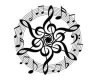 floral μουσική Στοκ Φωτογραφίες