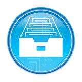 Floral μπλε στρογγυλό κουμπί εικονιδίων γραφείων αρχείων φακέλλων απεικόνιση αποθεμάτων