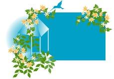floral να βουίσει πουλιών ανα&si απεικόνιση αποθεμάτων