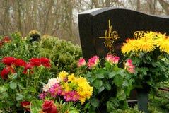 Floral νεκροταφείο ρύθμισης στοκ εικόνα με δικαίωμα ελεύθερης χρήσης
