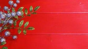 Floral ντεκόρ με το κόκκινο υπόβαθρο Στοκ Εικόνες