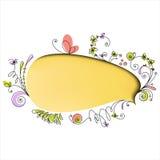 floral ομιλία στοιχείων φυσαλίδων κίτρινη Στοκ Εικόνες