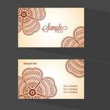 Floral οριζόντια επαγγελματική κάρτα ή κάρτα επίσκεψης Στοκ Φωτογραφίες