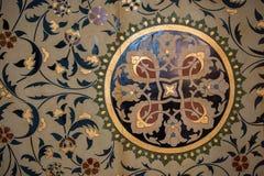 Floral παράδειγμα σχεδίων τέχνης του οθωμανικού χρόνου Στοκ εικόνες με δικαίωμα ελεύθερης χρήσης