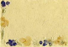 floral περγαμηνή Στοκ εικόνες με δικαίωμα ελεύθερης χρήσης