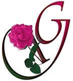 Floral ΠΗΓΉ γραμμάτων Γ απεικόνιση αποθεμάτων