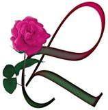 Floral ΠΗΓΉ γραμμάτων Λ διανυσματική απεικόνιση