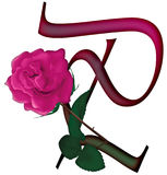 Floral ΠΗΓΉ γραμμάτων Π διανυσματική απεικόνιση