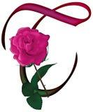 Floral ΠΗΓΉ γραμμάτων Τ απεικόνιση αποθεμάτων