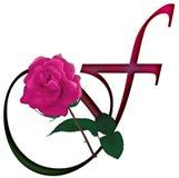 Floral ΠΗΓΉ γραμμάτων Φ ελεύθερη απεικόνιση δικαιώματος
