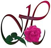 Floral ΠΗΓΉ γραμμάτων Χ ελεύθερη απεικόνιση δικαιώματος