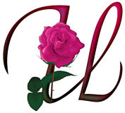 Floral ΠΗΓΉ γραμμάτων U ελεύθερη απεικόνιση δικαιώματος