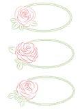 floral πλαίσια που τίθενται απεικόνιση αποθεμάτων