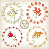 Floral πλαίσια συλλογής. Στοκ εικόνες με δικαίωμα ελεύθερης χρήσης