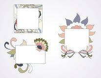 floral πλαίσια Στοκ Εικόνες