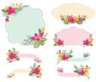 Floral πλαίσια Aloha καθορισμένα διανυσματική απεικόνιση