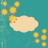 floral πλαίσιο αναδρομικό Στοκ Εικόνες