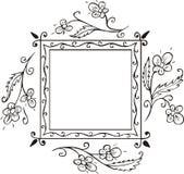 floral πλαίσιο διακοσμήσεων απεικόνιση αποθεμάτων