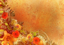 floral πλαίσιο που ορίζεται Στοκ εικόνα με δικαίωμα ελεύθερης χρήσης