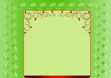 floral πλαίσιο πράσινο Στοκ εικόνα με δικαίωμα ελεύθερης χρήσης