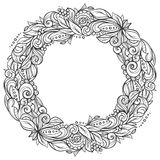 Floral πλαίσιο στεφανιών Στοκ εικόνα με δικαίωμα ελεύθερης χρήσης
