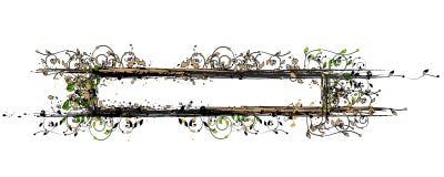 floral πλαίσιο Στοκ Εικόνα