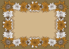 Floral πλαίσιο Στοκ εικόνα με δικαίωμα ελεύθερης χρήσης